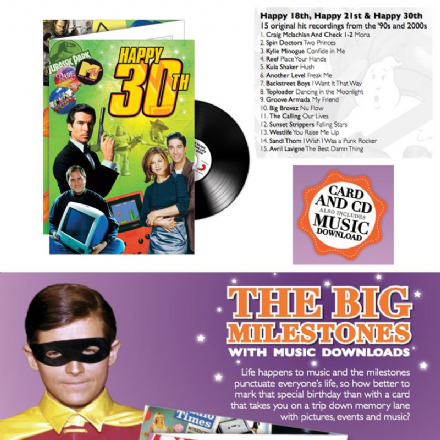 30th  Birthday CD Greeting Card.